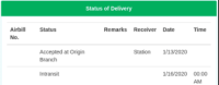 jrs delivery status