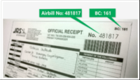 jrs express tracking number in receipt