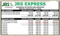 JRS Express Rates